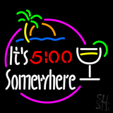 Its 5 Oclock Somewhere Margarita Beer LED Neon Sign