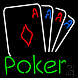 Beer Poker Cards Neon Sign