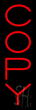 Vertical Red Copy Neon Sign