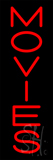 Vertical Red Movies LED Neon Sign