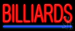Billiards Neon Sign