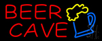 Red Beer Cave LED Neon Sign