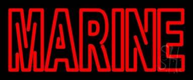 Red Double Stroke Marine Neon Sign