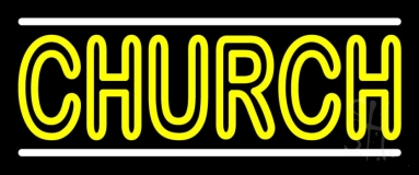 Double Stroke Church Neon Sign