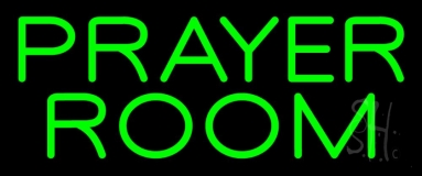 Green Prayer Room Neon Sign