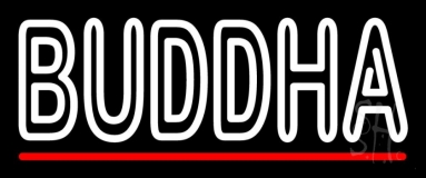 Lord Buddha With Red Line Neon Sign
