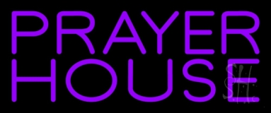 Purple Prayer House Neon Sign