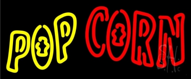 Yellow Pop Red Corn Neon Sign