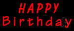 Red Happy Birthday LED Neon Sign