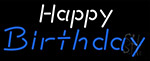 White Happy Blue Birthday LED Neon Sign