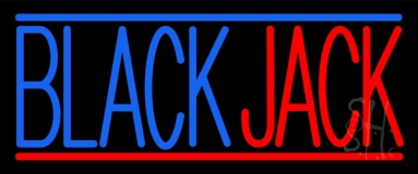 Blackjack Poker Neon Neon Sign