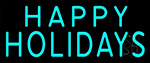Happy Holidays Block LED Neon Sign
