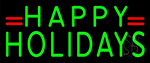 Green Happy Holidays LED Neon Sign