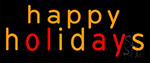Happy Holidays LED Neon Sign