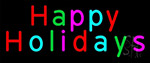 Multicolored Happy Holidays LED Neon Sign