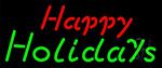 Red Happy Green Holidays LED Neon Sign