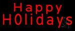 Red Happy Holidays LED Neon Sign