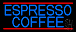 Blue Espresso Coffee Neon Sign