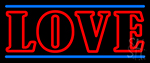Double Stroke Love Neon Sign