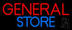 Red General Store LED Neon Sign