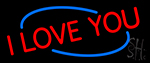 Red I Love You Neon Sign