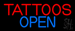 Tattoos Open LED Neon Sign