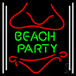 Beach Party 1 Neon Sign
