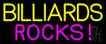 Billiards Rocks 3 Neon Sign