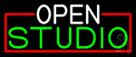 Open Studio With Red Border Neon Sign