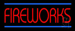 Red Fireworks Blue Lines LED Neon Sign