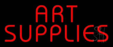 Block Red Art Supplies Neon Sign