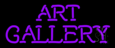 Purple Art Gallery Neon Sign