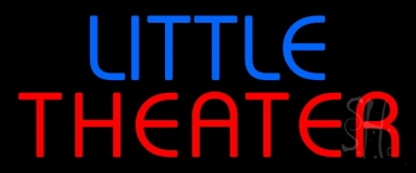 Blue Little Red Theater Neon Sign