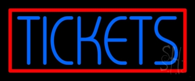 Blue Tickets With Border Neon Sign