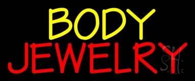 Yellow And Red Body Jewelry Neon Sign
