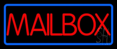 Red Mailbox Neon Sign