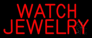 Red Watch Jewelry Neon Sign