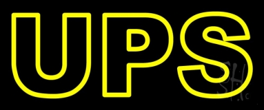 Yellow Ups Double Stroke Neon Sign