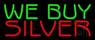 Green We Buy Red Platinum Neon Sign