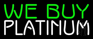Green We Buy White Platinum Neon Sign
