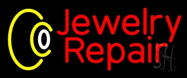 Red Jewelry Repair Neon Sign