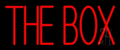Red The Box Block Neon Sign