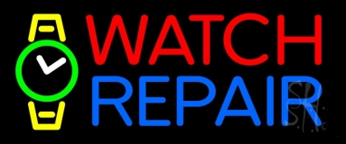 Red Watch Blue Repair With Logo Neon Sign