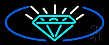 Turquoise Diamond Logo Neon Sign