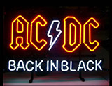Ac Dc Back In Black Neon Sign