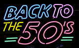 Back To The 50s Logo Neon Sign