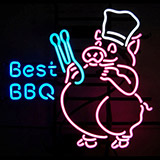 Best Bbq Logo Neon Sign