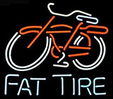 Big Fat Tire Bicycle Bike Logo Neon Sign