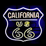 California Route 66 Logo Neon Sign