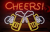 Cheers Beer Logo Neon Sign